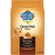 Nature's Recipe Grain-Free Puppy Chicken, Sweet Potato, & Pumpkin Recipe Dry Dog Food, 12-lb bag