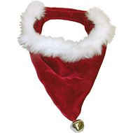 Outward Hound Holiday Santa Bandana Pet Costume, Small