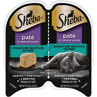 Sheba Perfect Portions Grain-Free Signature Seafood Entree Cat Food Trays, 2.6-oz, case of 24 twin-packs