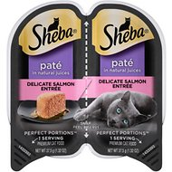 Sheba Perfect Portions Grain-Free Delicate Salmon Entree Cat Food Trays, 2.6-oz, case of 24 twin-packs