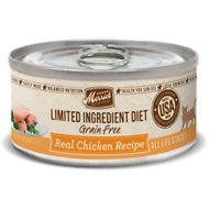 Merrick Limited Ingredient Diet Grain-Free Real Chicken Pate Recipe Canned Cat Food, 5-oz, case of 24