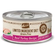 Merrick Limited Ingredient Diet Grain-Free Real Turkey Pate Recipe Canned Cat Food, 5-oz, case of 24