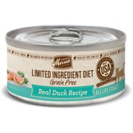 Merrick Limited Ingredient Diet Grain-Free Real Duck Pate Recipe Canned Cat Food, 5-oz, case of 24