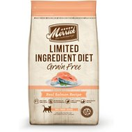 Merrick Limited Ingredient Diet Grain-Free Real Salmon Recipe Dry Cat Food, 4-lb bag