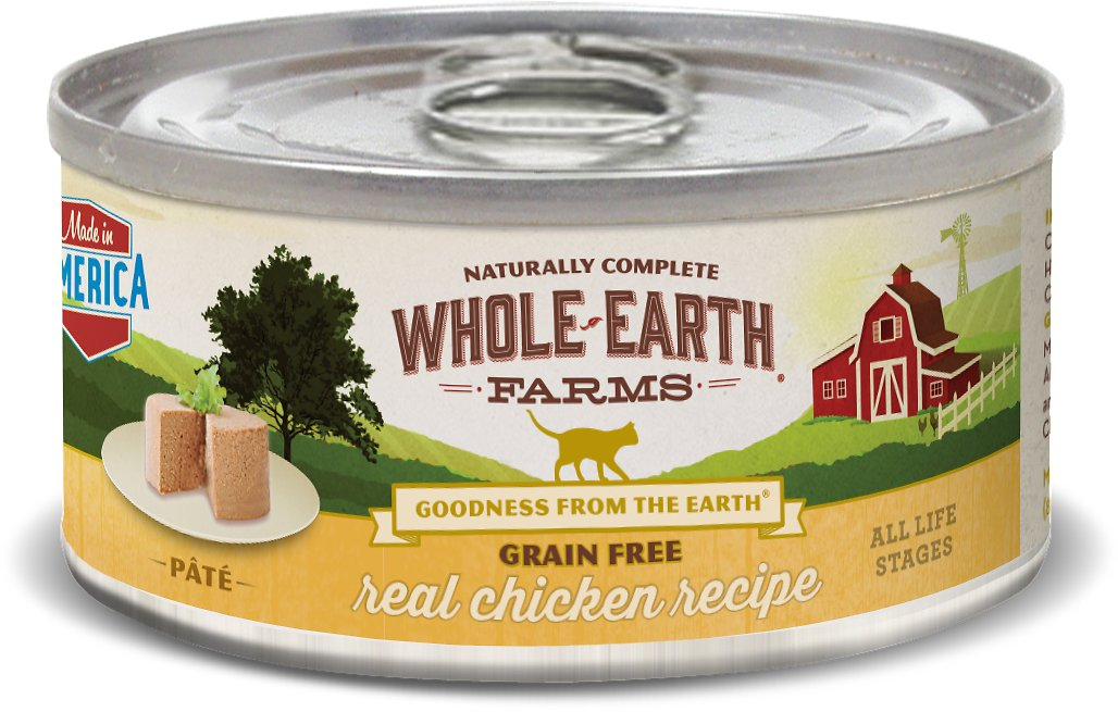 Whole earth farms grain free real chicken pate recipe canned cat video forumfinder Images