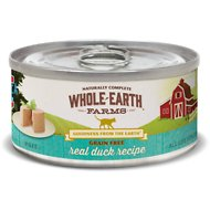 Whole Earth Farms Grain-Free Real Duck Pate Recipe Canned Cat Food, 5-oz, case of 24