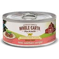 Whole Earth Farms Grain-Free Morsels in Gravy Salmon Recipe Canned Cat Food, 5-oz, case of 24