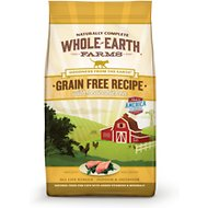 Whole Earth Farms Grain-Free Real Chicken Recipe Dry Cat Food, 5-lb bag