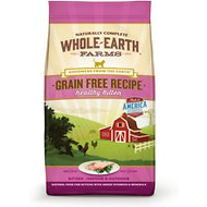 Whole Earth Farms Grain-Free Healthy Kitten Recipe Dry Cat Food, 10-lb bag