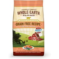Whole Earth Farms Grain-Free Real Salmon Recipe Dry Cat Food, 5-lb bag