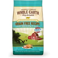 Whole Earth Farms Grain-Free Real Turkey & Duck Recipe Dry Cat Food, 5-lb bag