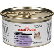 Royal Canin Spayed/Neutered Loaf in Sauce Canned Cat Food, 3-oz, case of 24