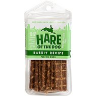 Hare of the Dog Big Dog 100% Rabbit Jerky Dog Treats, 2.5-oz pack