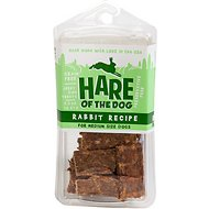 Hare of the Dog Medium Dog 100% Rabbit Jerky Dog Treats, 2.5-oz pack