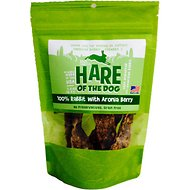 Hare of the Dog 100% Rabbit with Aronia Berry Dog Treats, 2.5-oz bag