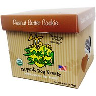Snicky Snaks Organic Peanut Butter Cookie Dog Treats, 6-oz box