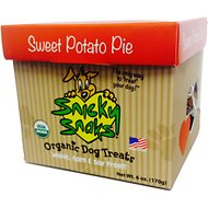 Snicky Snaks USDA Certified Organic Sweet Potato Pie Dog Treats, 6-oz box