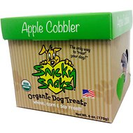 Snicky Snaks USDA Certified Organic Apple Cobbler  Dog Treats, 6-oz box