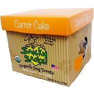 Snicky Snaks USDA Certified Organic Carrot Cake Dog Treats, 6-oz bag