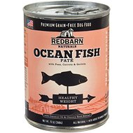 Redbarn Naturals Ocean Fish Pate Healthy Weight Grain-Free Canned Dog Food, 13-oz, case of 12