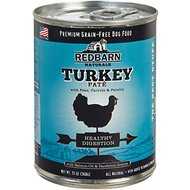 Redbarn Naturals Turkey Pate Healthy Digestion Grain-Free Canned Dog Food, 13-oz, case of 12