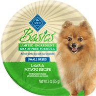 Blue Buffalo Basics Limited Ingredient Grain-Free Lamb & Potato Small Breed Adult Wet Dog Food, 3-oz, case of 12
