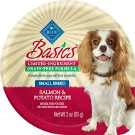 Blue Buffalo Basics Limited Ingredient Grain-Free Salmon & Potato Small Breed Adult Wet Dog Food, 3-oz, case of 12