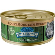 Blue Buffalo Wilderness Rocky Mountain Recipe with Rabbit Adult Grain-Free Canned Dog Food, 5.5-oz, case of 24