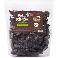 Pet 'n Shape Beef Lung CHUNX Bacon Flavor Dog Treats, 2-lb tub