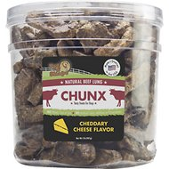 Pet 'n Shape Beef Lung CHUNX Cheese Flavor Dog Treats, 2-lb tub