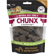 Pet 'n Shape Beef Lung CHUNX Peanut Butter Flavor Dog Treats, 4-oz bag