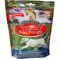 Sam's Yams Rushing Waters Rainbow Trout & Cranberry Dog Treats, 6-oz bag