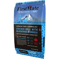 FirstMate Chicken Meal with Blueberries Formula Limited Ingredient Diet Grain-Free Dry Dog Food, 28.6-lb bag