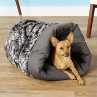 P.L.A.Y. Pet Lifestyle and You Snuggle Bed, Charcoal Gray, Large