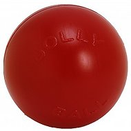 "Jolly Pets 10"" Push-n-Play Dog Toy, Red"