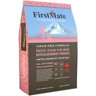 FirstMate Pacific Ocean Fish Meal with Blueberries Formula Limited Ingredient Diet Grain-Free Dry Cat Food, 10-lb bag