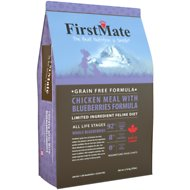 FirstMate Chicken Meal with Blueberries Formula Limited Ingredient Diet Grain-Free Dry Cat Food, 10-lb bag