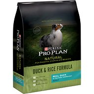 Purina Pro Plan Natural Plus Essential Vitamins & Minerals Duck & Rice Formula Dry Dog Food, 24-lb bag
