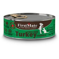 FirstMate Turkey Formula Limited Ingredient Grain-Free Canned Cat Food, 5.5-oz, case of 24