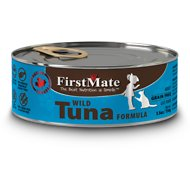 FirstMate Wild Tuna Formula Limited Ingredient Grain-Free Canned Cat Food, 5.5-oz, case of 24