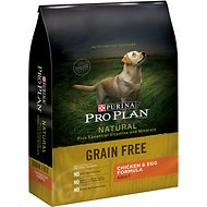 Purina Pro Plan Natural Plus Essential Vitamins & Minerals Chicken & Egg Formula Grain-Free Dry Dog Food, 24-lb bag