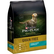 Purina Pro Plan Natural Plus Essential Vitamins & Minerals Tuna & Egg Formula Dry Dog Food, 24-lb bag