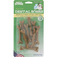 Health Extension Probiotic Yogurt Dental Bones Dog Treats, Small, 9-pack