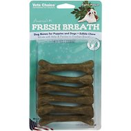 Health Extension Fresh Breath Dental Bones Dog Treats, Small, 9-pack