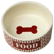 PetRageous Designs Checkers Food Pet Bowl, Red, 3.5-cup
