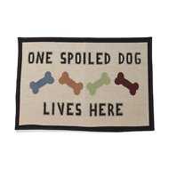 PetRageous Designs One Spoiled Dog Tapestry Placemat, Jumbo