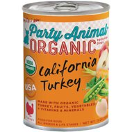 Party Animal California Turkey Recipe Canned Dog Food, 13-oz, case of 12