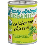 Party Animal California Chicken Recipe Canned Dog Food, 13-oz, case of 12