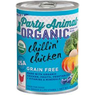Party Animal Chillin' Chicken Grain-Free Recipe Canned Dog Food, 13-oz, case of 12