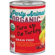 Party Animal Turn Up Da Turkey Recipe Grain-Free Canned Dog Food, 13-oz, case of 12